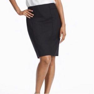 White House Black Market Black Pencil Skirt Size 2